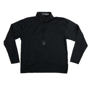 Spyder M Medium 1/2 Zip Pullover Base Layer Black